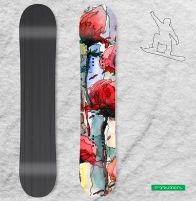 Розы - Наклейки на доски - сноуборд, скейтборд, лыжи, кайтсерфинг, вэйк, серф