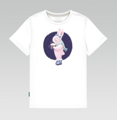 Зайка с какао, Детская футболка белая