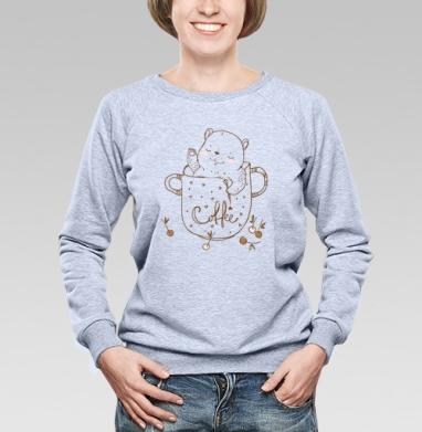 Кофейное  - Купить детские свитшоты красивые в Москве, цена детских свитшотов красивых  с прикольными принтами - магазин дизайнерской одежды MaryJane