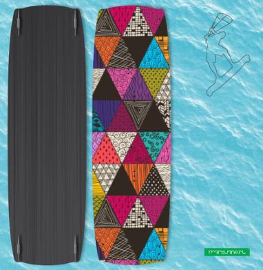 Пестрые треугольники - Наклейки на кайтсерфинг/вэйк