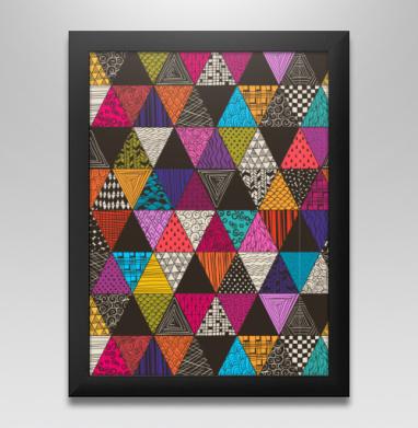 Пестрые треугольники, Постер в чёрной раме