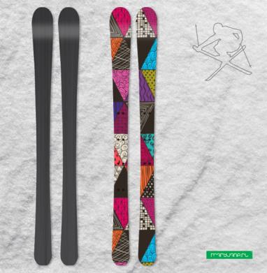 Пестрые треугольники - Наклейки на лыжи