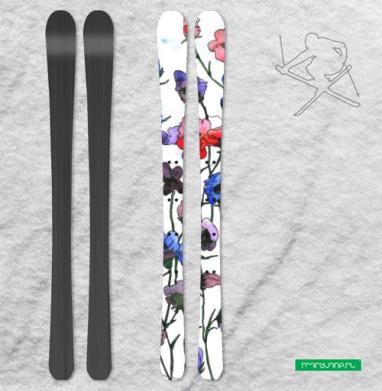 Цветочки, лето - Наклейки на лыжи