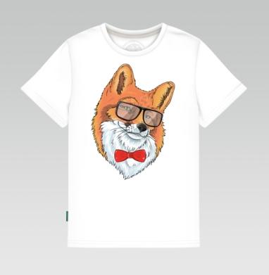 Лиса хипстер - Детские футболки с надписями
