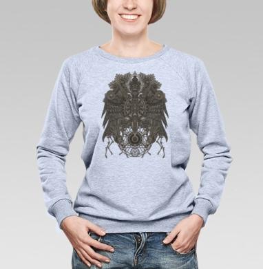 Великий Орёл, Cвитшот женский, толстовка без капюшона  серый меланж