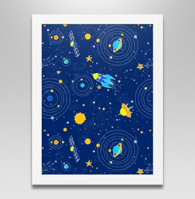 Сигналы из космоса, Постер в белой раме