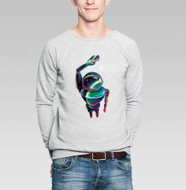 Космический посланник - Купить мужские свитшоты с акварелью в Москве, цена мужских свитшотов с акварелью  с прикольными принтами - магазин дизайнерской одежды MaryJane