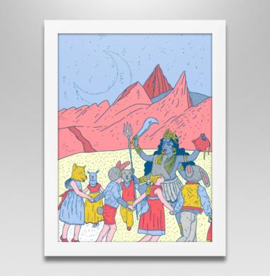 Розовые холмы - Продажа картин в интернете