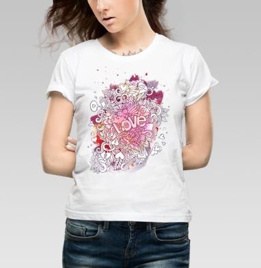 Любовь и дудлы - Купить детские футболки с символами в Москве, цена детских футболок с символом с прикольными принтами - магазин дизайнерской одежды MaryJane