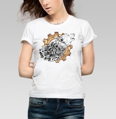 Волк - Купить детские футболки с волками в Москве, цена детских футболок с волками  с прикольными принтами - магазин дизайнерской одежды MaryJane