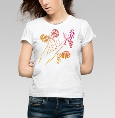 Все в твоих руках - Купить детские футболки с бабочками в Москве, цена детских футболок с бабочкой с прикольными принтами - магазин дизайнерской одежды MaryJane