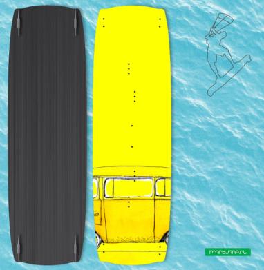 Жёлтый Автобус - Наклейки на кайтсерфинг/вэйк
