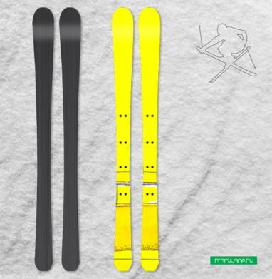 Жёлтый Автобус - Наклейки на лыжи