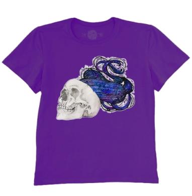 Футболка мужская темно-фиолетовая - Внутренний мир.