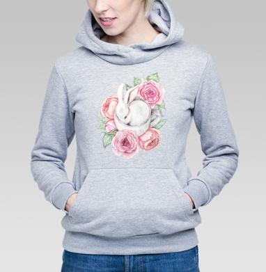 Белый кролик в чашке - Купить детские толстовки нежность в Москве, цена детских толстовок нежность  с прикольными принтами - магазин дизайнерской одежды MaryJane
