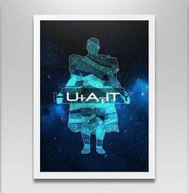Человечество - Постер в белой раме, aбстрактные