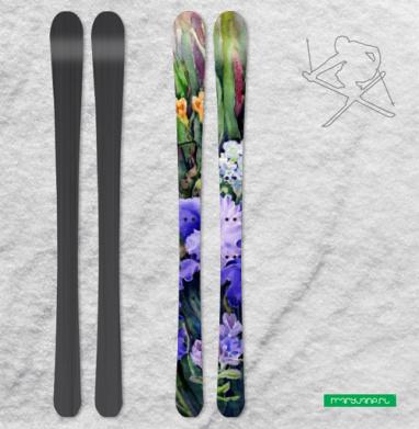 Ирисы и фрезии - Наклейки на лыжи