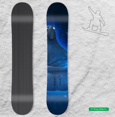 Космический Ждун - Наклейки на доски - сноуборд, скейтборд, лыжи, кайтсерфинг, вэйк, серф