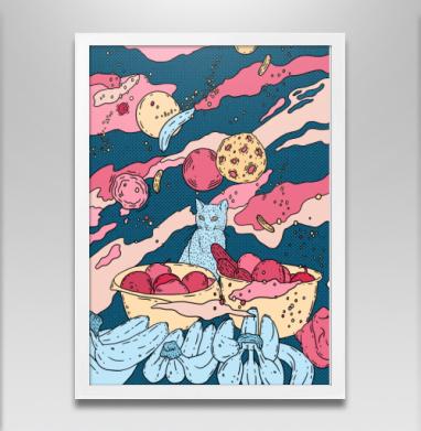 Кот в космосе - Постеры, кошка, Популярные