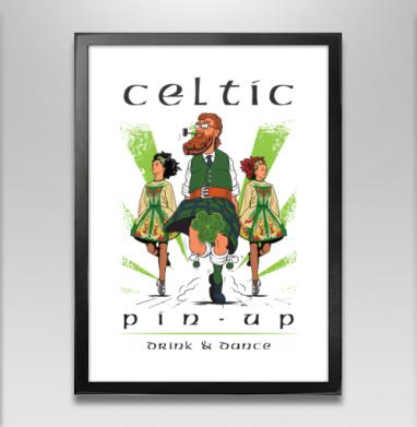 Кельтский пинап - Постер в чёрной раме