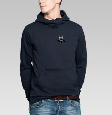 Толстовка мужская, накладной карман тёмно-синяя, тёмно-синий - Интернет магазин футболок №1 в Москве