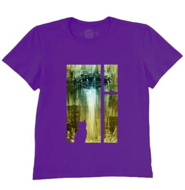 Футболка мужская темно-фиолетовая - НЛО