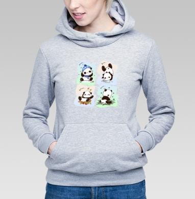 Пандочки  - Купить детские толстовки с персонажами в Москве, цена детских толстовок с персонажами  с прикольными принтами - магазин дизайнерской одежды MaryJane
