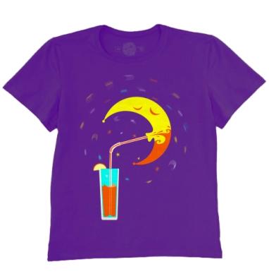 Футболка мужская темно-фиолетовая - Вечеринка месяца