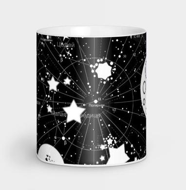 Карта звездного неба - Кружки с логотипом