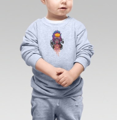 Cвитшот Детский серый меланж - Настоящему индейцу