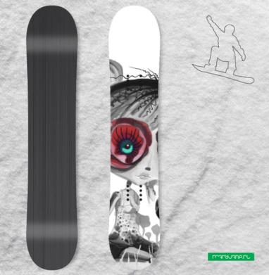 Цветов, принцесса - Наклейки на доски - сноуборд, скейтборд, лыжи, кайтсерфинг, вэйк, серф