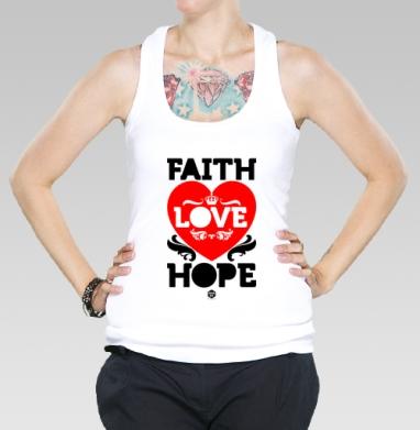 Борцовка женская чёрная рибана 200гр - Вера, надежда, любовь