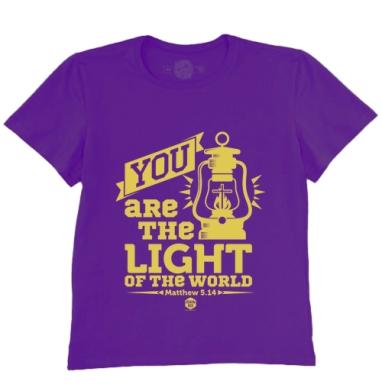 Футболка мужская темно-фиолетовая - Вы - свет мира