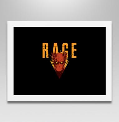 Ведомый гневом - Постер в белой раме