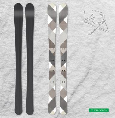 Симметрия в коричневых тонах - Наклейки на лыжи