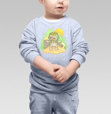 Плюшевый Фараон - Cвитшот Детский серый меланж, Новинки