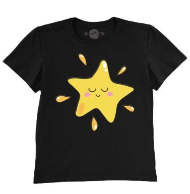Футболка мужская чёрная 200гр - Довольная звёздочка