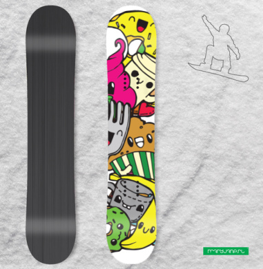 Дудлы - Наклейки на доски - сноуборд, скейтборд, лыжи, кайтсерфинг, вэйк, серф
