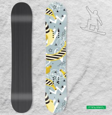 Арт бананы - Наклейки на доски - сноуборд, скейтборд, лыжи, кайтсерфинг, вэйк, серф
