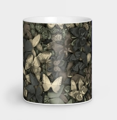 Камуфляж с бабочками - природа, Новинки