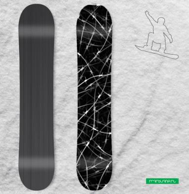 Колючая проволка - Виниловые наклейки на сноуборд купить с доставкой. Воронеж