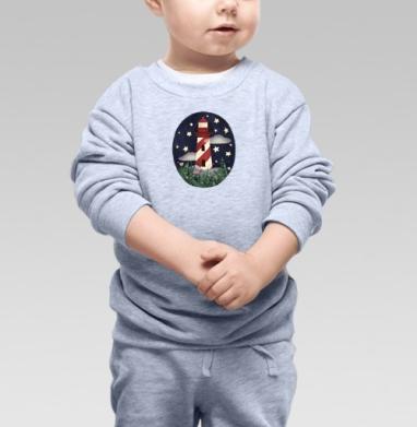 Маяк Эстреллас Вермеллас - Cвитшот Детский серый меланж, Новинки