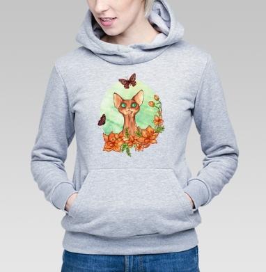 Весенняя охота - Купить детские толстовки с кошками в Москве, цена детских толстовок с кошками  с прикольными принтами - магазин дизайнерской одежды MaryJane