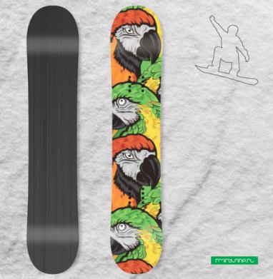 Попугаи - Наклейки на доски - сноуборд, скейтборд, лыжи, кайтсерфинг, вэйк, серф