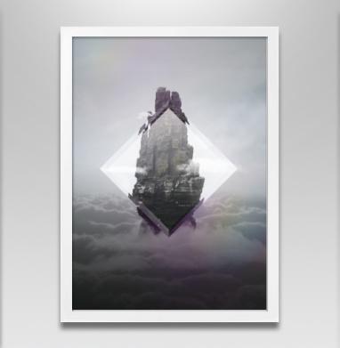 Кристальная скала - Постер в белой раме, горы