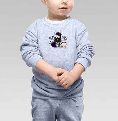 Как и всегда - Cвитшот Детский серый меланж, Новинки