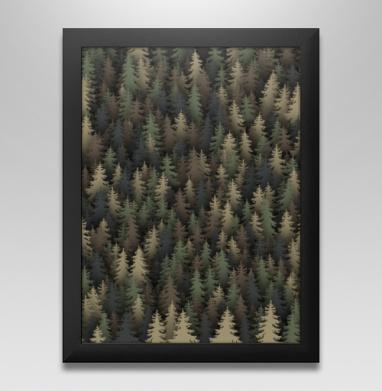 Лесной камуфляж, Постер в чёрной раме