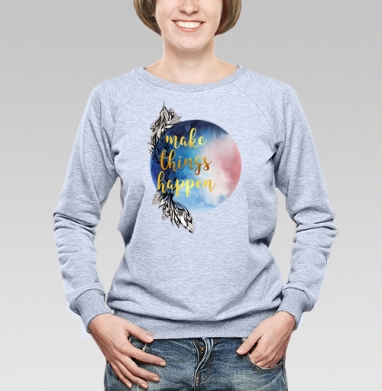 Мотивация - Купить детские свитшоты с акварелью в Москве, цена детских свитшотов с акварелью  с прикольными принтами - магазин дизайнерской одежды MaryJane