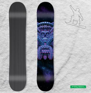 Ритуал - Сплошные наклейки сноуборд c черепами