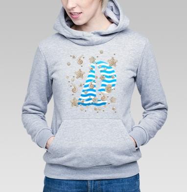 Волны и ракушки - Купить детские толстовки морские  в Москве, цена детских толстовок морских   с прикольными принтами - магазин дизайнерской одежды MaryJane